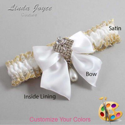 Couture Garters / Custom Wedding Garter / Customizable Wedding Garters / Personalized Wedding Garters / Madeline #04-B01-M33 / Wedding Garters / Bridal Garter / Prom Garter / Linda Joyce Couture