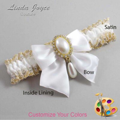 Couture Garters / Custom Wedding Garter / Customizable Wedding Garters / Personalized Wedding Garters / Michaela #04-B01-M34 / Wedding Garters / Bridal Garter / Prom Garter / Linda Joyce Couture