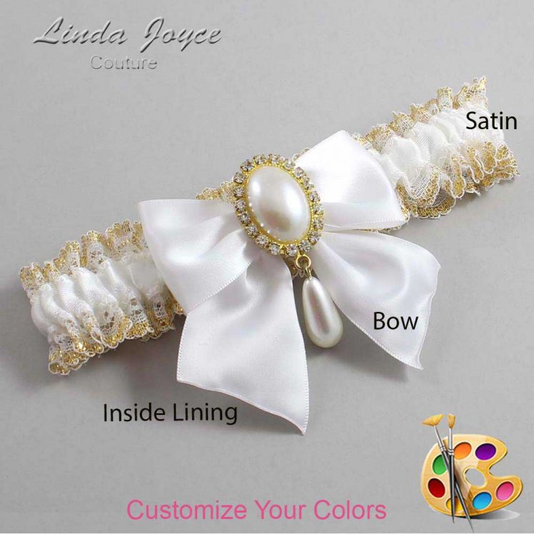 Couture Garters / Custom Wedding Garter / Customizable Wedding Garters / Personalized Wedding Garters / Michaela #04-B01-M34 / Wedding Garters / Bridal Garter / Prom Garter / Linda Joyce Couture