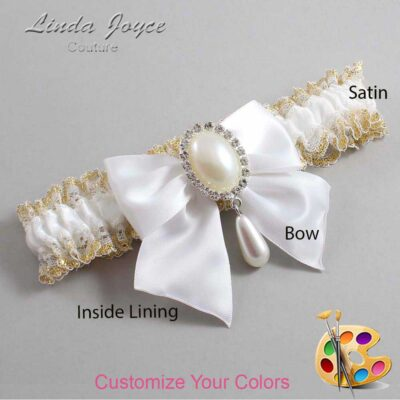 Couture Garters / Custom Wedding Garter / Customizable Wedding Garters / Personalized Wedding Garters / Michaela #04-B01-M35 / Wedding Garters / Bridal Garter / Prom Garter / Linda Joyce Couture