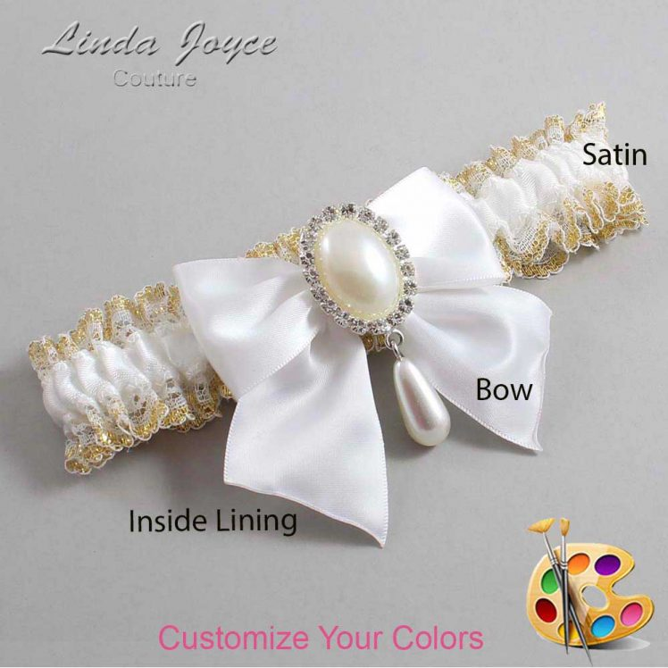 Couture Garters / Custom Wedding Garter / Customizable Wedding Garters / Personalized Wedding Garters / Michaela #04-B01-M35 / Wedding Garters / Bridal Garter / Prom Garter / Linda Joyce Couture