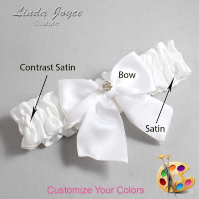 Couture Garters / Custom Wedding Garter / Customizable Wedding Garters / Personalized Wedding Garters / Pamela #01-B01-M03 / Wedding Garters / Bridal Garter / Prom Garter / Linda Joyce Couture