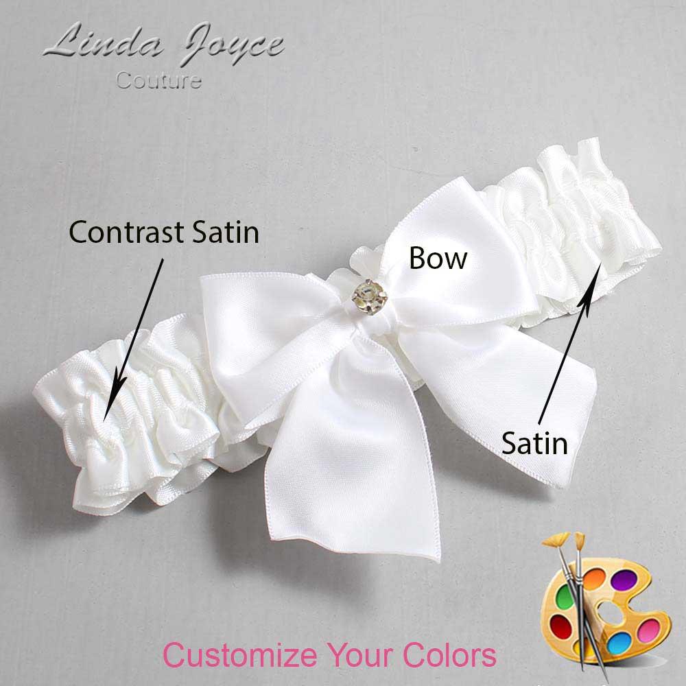 Customizable Wedding Garter / Pamela #01-B01-M03