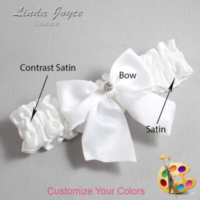 Customizable Wedding Garter / Pamela #01-B01-M04