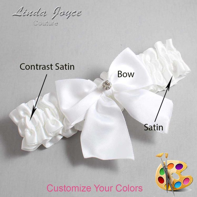 Couture Garters / Custom Wedding Garter / Customizable Wedding Garters / Personalized Wedding Garters / Pamela #01-B01-M04 / Wedding Garters / Bridal Garter / Prom Garter / Linda Joyce Couture