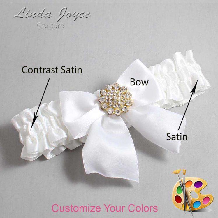 Couture Garters / Custom Wedding Garter / Customizable Wedding Garters / Personalized Wedding Garters / Penny #01-B01-M12 / Wedding Garters / Bridal Garter / Prom Garter / Linda Joyce Couture