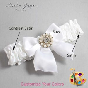 Couture Garters / Custom Wedding Garter / Customizable Wedding Garters / Personalized Wedding Garters / Adelle #01-B01-M14 / Wedding Garters / Bridal Garter / Prom Garter / Linda Joyce Couture