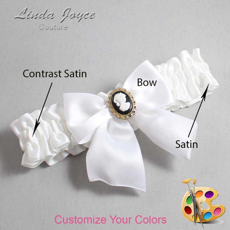 Couture Garters / Custom Wedding Garter / Customizable Wedding Garters / Personalized Wedding Garters / Amy #01-B01-M15 / Wedding Garters / Bridal Garter / Prom Garter / Linda Joyce Couture