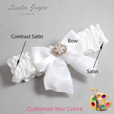 Couture Garters / Custom Wedding Garter / Customizable Wedding Garters / Personalized Wedding Garters / Cynthia #01-B01-M16 / Wedding Garters / Bridal Garter / Prom Garter / Linda Joyce Couture