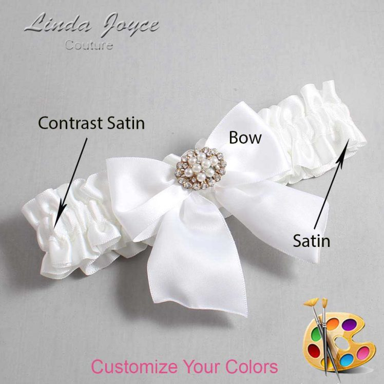 Couture Garters / Custom Wedding Garter / Customizable Wedding Garters / Personalized Wedding Garters / Cynthia #01-B01-M16 / Wedding Garters / Bridal Garter / Prom Garter / Linda Joyce Couture