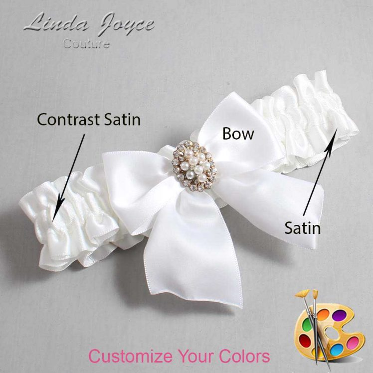 Couture Garters / Custom Wedding Garter / Customizable Wedding Garters / Personalized Wedding Garters / Annie #01-B01-M17 / Wedding Garters / Bridal Garter / Prom Garter / Linda Joyce Couture