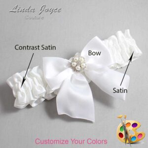 Couture Garters / Custom Wedding Garter / Customizable Wedding Garters / Personalized Wedding Garters / Kourtney #01-B01-M20 / Wedding Garters / Bridal Garter / Prom Garter / Linda Joyce Couture