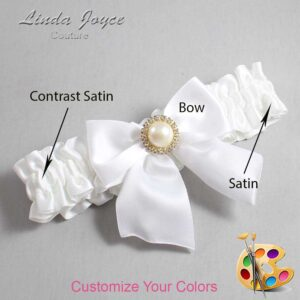Couture Garters / Custom Wedding Garter / Customizable Wedding Garters / Personalized Wedding Garters / Paige #01-B01-M21 / Wedding Garters / Bridal Garter / Prom Garter / Linda Joyce Couture
