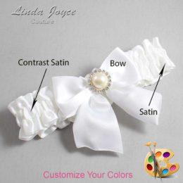 Couture Garters / Custom Wedding Garter / Customizable Wedding Garters / Personalized Wedding Garters / Paige #01-B01-M22 / Wedding Garters / Bridal Garter / Prom Garter / Linda Joyce Couture