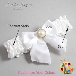 Couture Garters / Custom Wedding Garter / Customizable Wedding Garters / Personalized Wedding Garters / Paige #01-B01-M22 / Wedding Garters / Bridal Garter / Prom Garter / Linda Joyce Couture