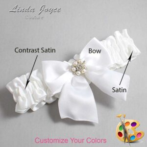 Couture Garters / Custom Wedding Garter / Customizable Wedding Garters / Personalized Wedding Garters / Naomi #01-B01-M23 / Wedding Garters / Bridal Garter / Prom Garter / Linda Joyce Couture