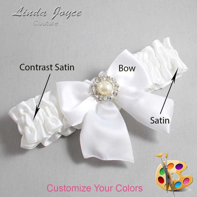Couture Garters / Custom Wedding Garter / Customizable Wedding Garters / Personalized Wedding Garters / Amanda #01-B01-M24 / Wedding Garters / Bridal Garter / Prom Garter / Linda Joyce Couture