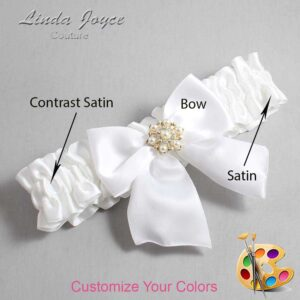 Couture Garters / Custom Wedding Garter / Customizable Wedding Garters / Personalized Wedding Garters / Larissa #01-B01-M27 / Wedding Garters / Bridal Garter / Prom Garter / Linda Joyce Couture