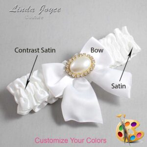 Couture Garters / Custom Wedding Garter / Customizable Wedding Garters / Personalized Wedding Garters / Nicole #01-B01-M28 / Wedding Garters / Bridal Garter / Prom Garter / Linda Joyce Couture