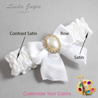Couture Garters / Custom Wedding Garter / Customizable Wedding Garters / Personalized Wedding Garters / Maggie #01-B01-M29 / Wedding Garters / Bridal Garter / Prom Garter / Linda Joyce Couture
