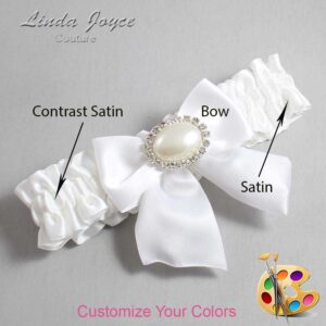 Couture Garters / Custom Wedding Garter / Customizable Wedding Garters / Personalized Wedding Garters / Nicole #01-B01-M30 / Wedding Garters / Bridal Garter / Prom Garter / Linda Joyce Couture