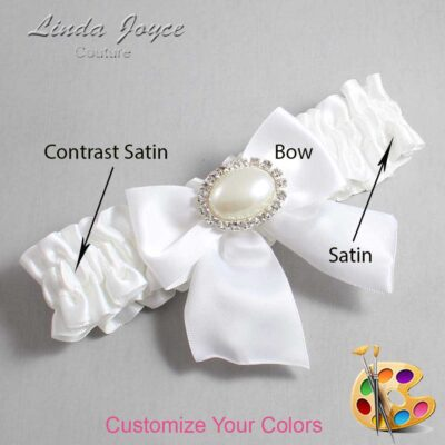 Customizable Wedding Garter / Nicole #01-B01-M30