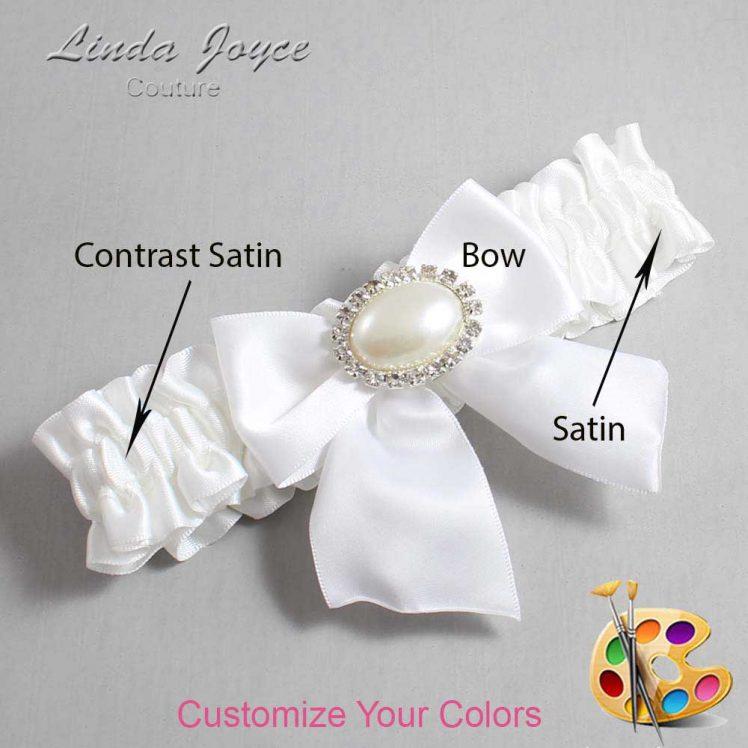 Couture Garters / Custom Wedding Garter / Customizable Wedding Garters / Personalized Wedding Garters / Nicole #01-B01-M30 / Wedding Garters / Bridal Garter / Prom Garter / Linda Joyce Couture