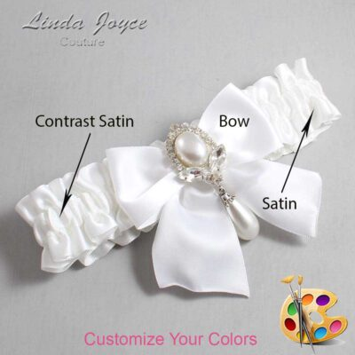 Couture Garters / Custom Wedding Garter / Customizable Wedding Garters / Personalized Wedding Garters / Jessica #01-B01-M32 / Wedding Garters / Bridal Garter / Prom Garter / Linda Joyce Couture