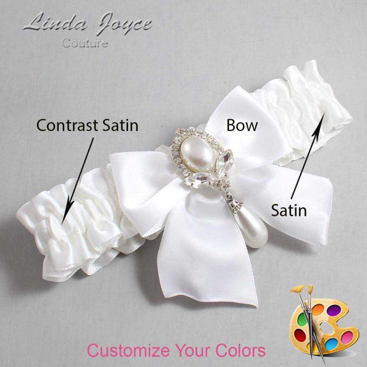 Couture Garters / Custom Wedding Garter / Customizable Wedding Garters / Personalized Wedding Garters / Jessica #01-B01-M32 / Wedding Garters / Bridal Garter / Prom Garter / Linda Joyce Couture