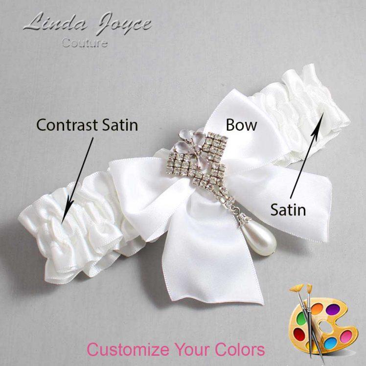 Couture Garters / Custom Wedding Garter / Customizable Wedding Garters / Personalized Wedding Garters / Madeline #01-B01-M33 / Wedding Garters / Bridal Garter / Prom Garter / Linda Joyce Couture