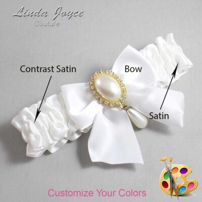 Couture Garters / Custom Wedding Garter / Customizable Wedding Garters / Personalized Wedding Garters / Michaela #01-B01-M34 / Wedding Garters / Bridal Garter / Prom Garter / Linda Joyce Couture