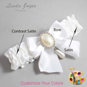 Couture Garters / Custom Wedding Garter / Customizable Wedding Garters / Personalized Wedding Garters / Michaela #01-B01-M35 / Wedding Garters / Bridal Garter / Prom Garter / Linda Joyce Couture