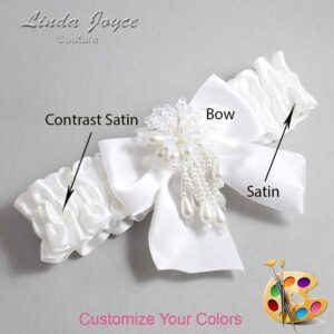 Couture Garters / Custom Wedding Garter / Customizable Wedding Garters / Personalized Wedding Garters / Daphne #01-B01-M38 / Wedding Garters / Bridal Garter / Prom Garter / Linda Joyce Couture