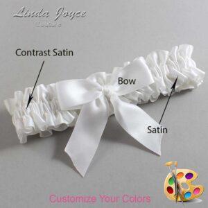 Couture Garters / Custom Wedding Garter / Customizable Wedding Garters / Personalized Wedding Garters / Melva #01-B02-00 / Wedding Garters / Bridal Garter / Prom Garter / Linda Joyce Couture