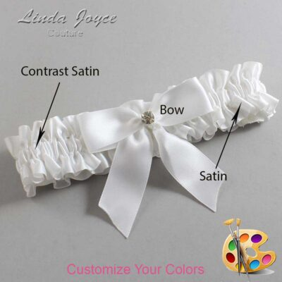 Couture Garters / Custom Wedding Garter / Customizable Wedding Garters / Personalized Wedding Garters / Rylee #01-B02-M03 / Wedding Garters / Bridal Garter / Prom Garter / Linda Joyce Couture