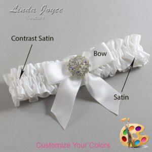 Couture Garters / Custom Wedding Garter / Customizable Wedding Garters / Personalized Wedding Garters / Sarina #01-B02-M11 / Wedding Garters / Bridal Garter / Prom Garter / Linda Joyce Couture