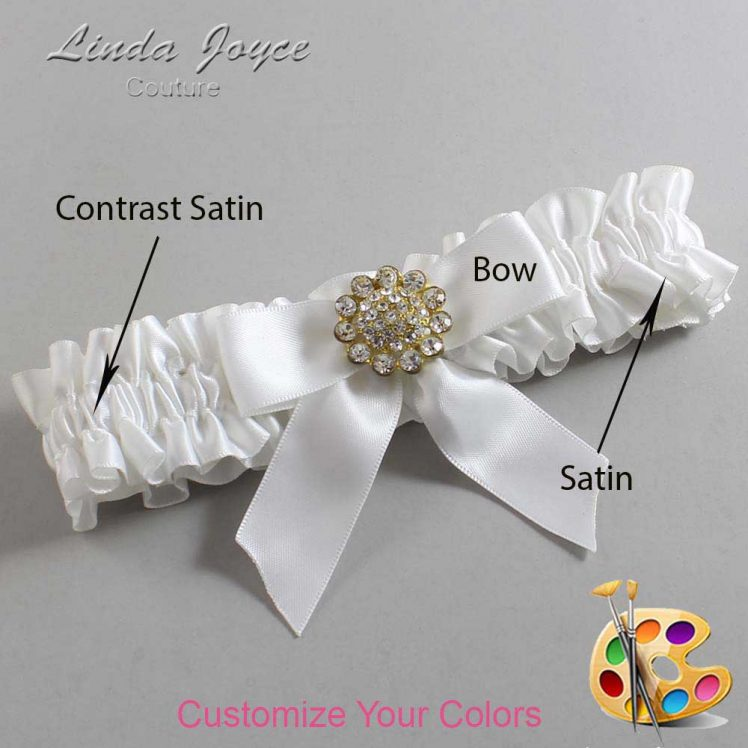 Couture Garters / Custom Wedding Garter / Customizable Wedding Garters / Personalized Wedding Garters / Tamera #01-B02-M12 / Wedding Garters / Bridal Garter / Prom Garter / Linda Joyce Couture