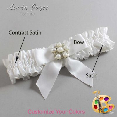 Couture Garters / Custom Wedding Garter / Customizable Wedding Garters / Personalized Wedding Garters / Sheena #01-B02-M13 / Wedding Garters / Bridal Garter / Prom Garter / Linda Joyce Couture