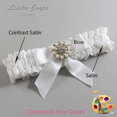 Couture Garters / Custom Wedding Garter / Customizable Wedding Garters / Personalized Wedding Garters / Wilma #01-B02-M14 / Wedding Garters / Bridal Garter / Prom Garter / Linda Joyce Couture