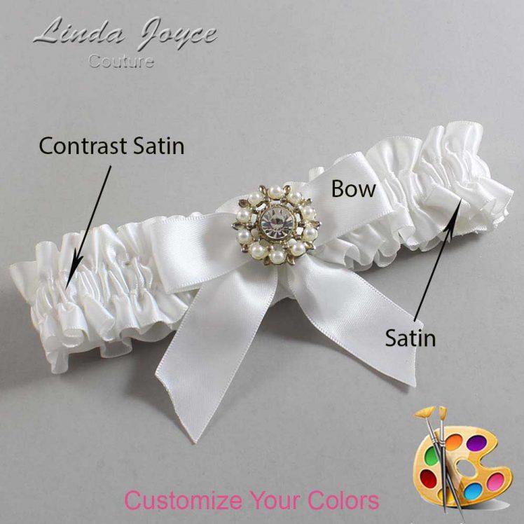 Couture Garters / Custom Wedding Garter / Customizable Wedding Garters / Personalized Wedding Garters / Wilma #01-B02-M14 / Wedding Garters / Bridal Garter / Prom Garter / Linda Joyce Couture