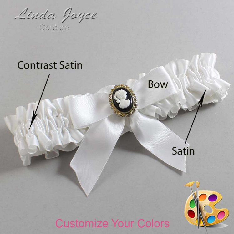 Couture Garters / Custom Wedding Garter / Customizable Wedding Garters / Personalized Wedding Garters / Sherri #01-B02-M15 / Wedding Garters / Bridal Garter / Prom Garter / Linda Joyce Couture