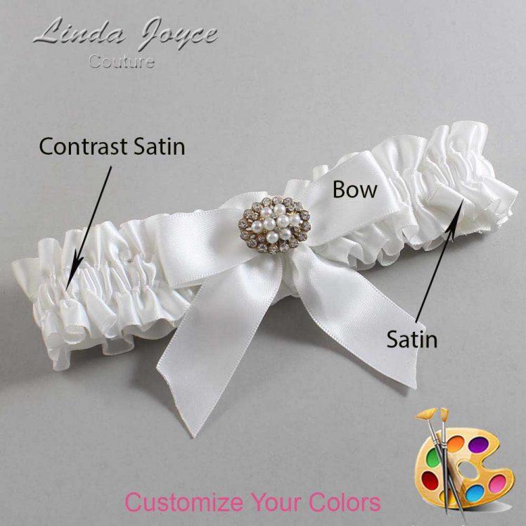 Couture Garters / Custom Wedding Garter / Customizable Wedding Garters / Personalized Wedding Garters / Penelope #01-B02-M16 / Wedding Garters / Bridal Garter / Prom Garter / Linda Joyce Couture