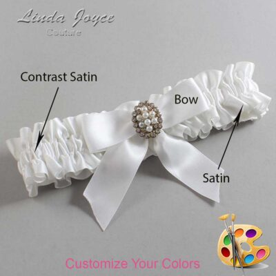 Couture Garters / Custom Wedding Garter / Customizable Wedding Garters / Personalized Wedding Garters / Quinn #01-B02-M17 / Wedding Garters / Bridal Garter / Prom Garter / Linda Joyce Couture