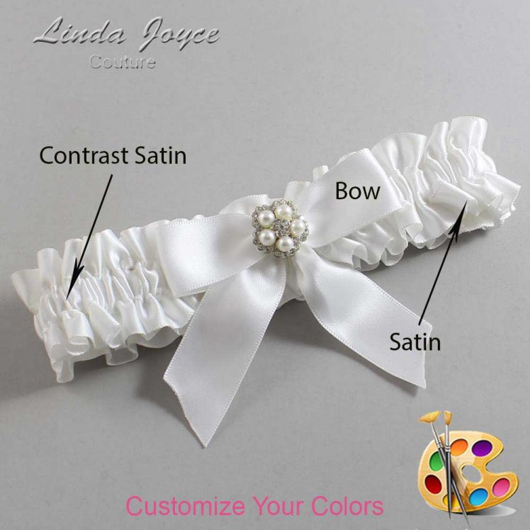 Couture Garters / Custom Wedding Garter / Customizable Wedding Garters / Personalized Wedding Garters / Prudence #01-B02-M20 / Wedding Garters / Bridal Garter / Prom Garter / Linda Joyce Couture