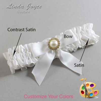 Couture Garters / Custom Wedding Garter / Customizable Wedding Garters / Personalized Wedding Garters / Rubie #01-B02-M21 / Wedding Garters / Bridal Garter / Prom Garter / Linda Joyce Couture