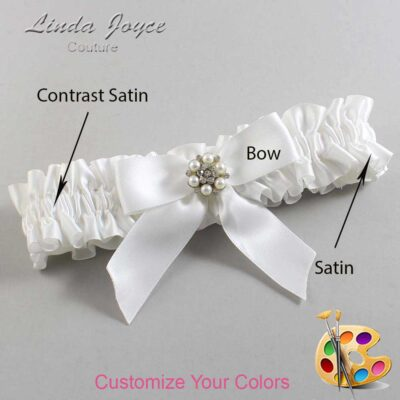 Couture Garters / Custom Wedding Garter / Customizable Wedding Garters / Personalized Wedding Garters / Natasha #01-B02-M23 / Wedding Garters / Bridal Garter / Prom Garter / Linda Joyce Couture