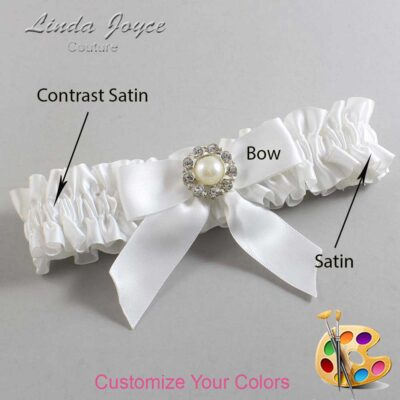Couture Garters / Custom Wedding Garter / Customizable Wedding Garters / Personalized Wedding Garters / Mya #01-B02-M24 / Wedding Garters / Bridal Garter / Prom Garter / Linda Joyce Couture