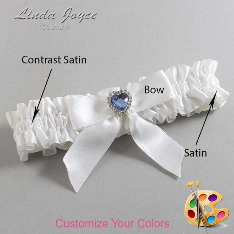 Couture Garters / Custom Wedding Garter / Customizable Wedding Garters / Personalized Wedding Garters / Misty #01-B02-M25 / Wedding Garters / Bridal Garter / Prom Garter / Linda Joyce Couture