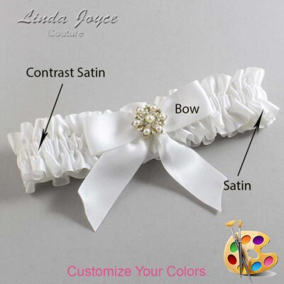 Couture Garters / Custom Wedding Garter / Customizable Wedding Garters / Personalized Wedding Garters / Selina #01-B02-M27 / Wedding Garters / Bridal Garter / Prom Garter / Linda Joyce Couture