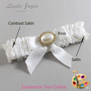 Couture Garters / Custom Wedding Garter / Customizable Wedding Garters / Personalized Wedding Garters / Niki #01-B02-M28 / Wedding Garters / Bridal Garter / Prom Garter / Linda Joyce Couture